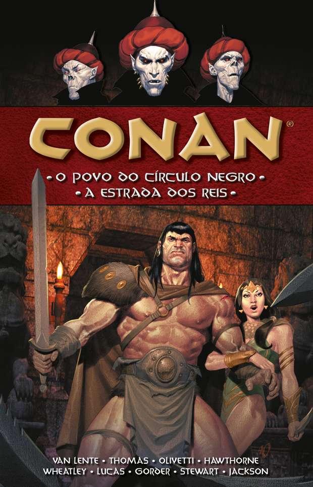 Capa do livro Conan O povo do Circulo Negro e a Estrada dos Reis