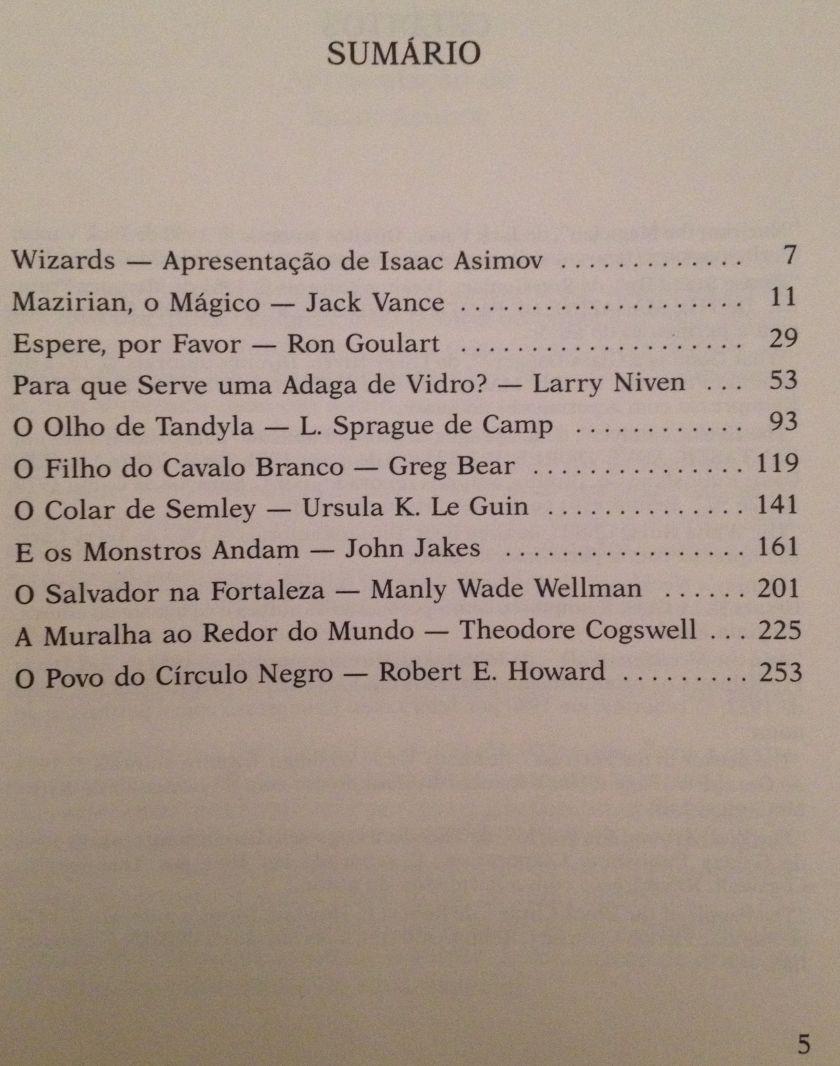 Sumário do livro